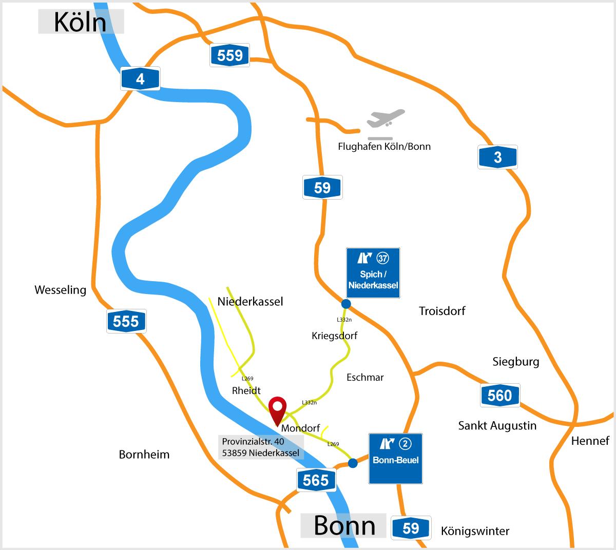 LLV-Shop Anfahrt-Karte