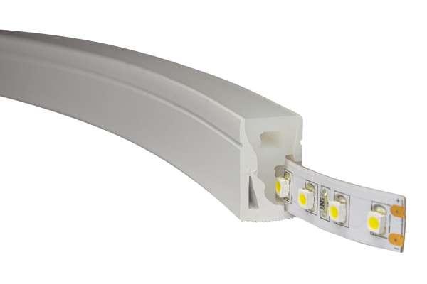 1m LED Strip NEON-like 1220 CC, 24V, 10W/m, warmweiß (3000K), IP67 Silicone Tube, seitlich biegbar