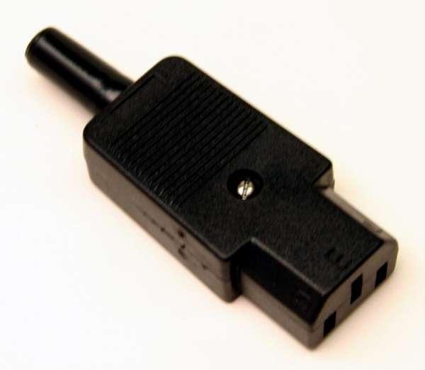 Kaltgeräte-Kabelkupplung, gerade