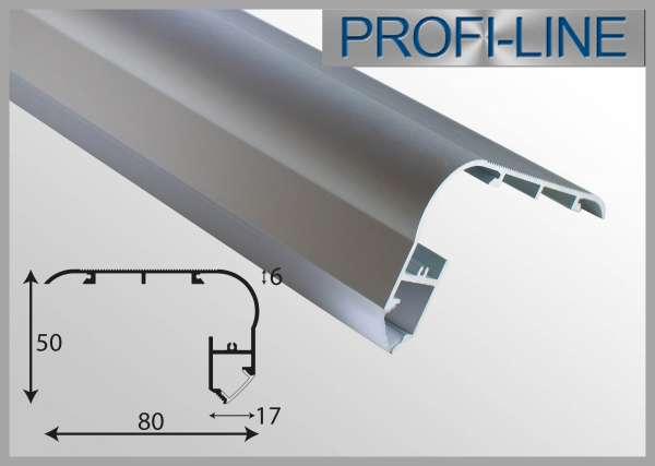 10 cm MUSTER LED Alu-Profil 2m Alu-LED-Treppenstufenprofil LTP-551, 80 x 50 mm, für LED-Strips bis 12mm, Beleuchtung