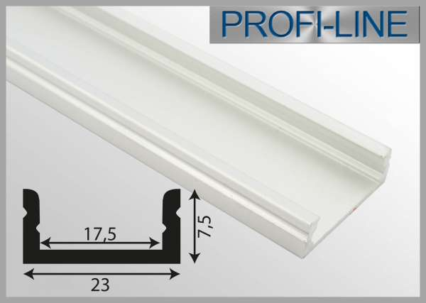 1m Alu-Profil für LED-Strip Wallwasher (Serie 10737x, 10738x und 10739x)