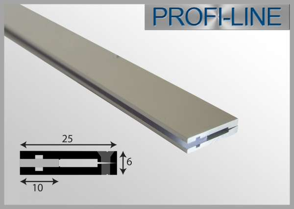 LED Alu-Profil 2m Aluprofil / Deko-Profil für Möbeleinbau flach SEP-101 für SE-LED-Strips