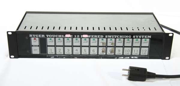 Touchlite 12, Sensor-Schaltboard mit 12 x 1KW Gebrauchtgerät!