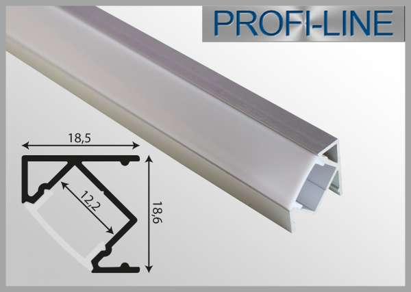LED Alu-Profil 1m Aluprofil / LED-Profil Winkelprofil LAP-111 für LED-Strips inkl. Abdeckung Opal, Eckprofil