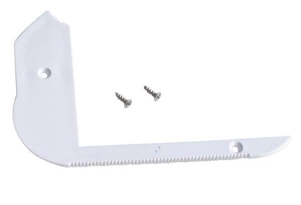 Endkappe LINKS für LED Alu-Treppenstufenprofil TSP-551 ohne Loch, weiß / Endstück LED-Leiste Treppe