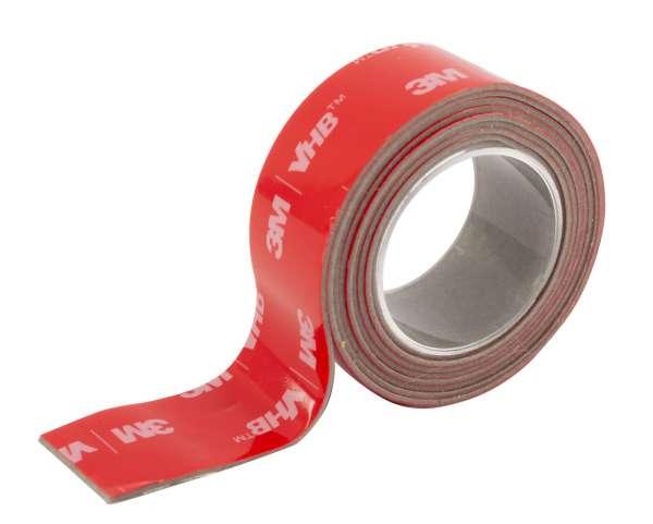 3M VHB doppelseitiges Hochleistungs-Klebeband 18mm breit, 1m fertig aufgeklebt, nur bestellbar in Verbindung mit LED-Strip Wallwasher!