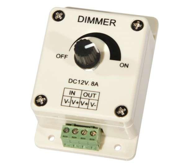 12V/24V LED-Dimmer für 1-Kanal LED-Strips Strip 96W