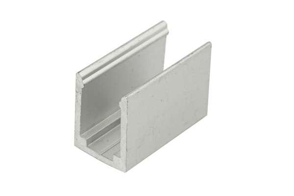 Alu-Halterung 20 mm für RGB LED-Strip im Silikonschlauch (Art.-Nr. 107455), mit Bohrung zum Befestigen, Zubehör