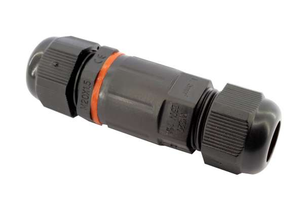 Outdoor Kabelverbinder 3-polig IP67, 250V/16A, max. 1,5 qmm, Kabelmuffe, wasserdicht