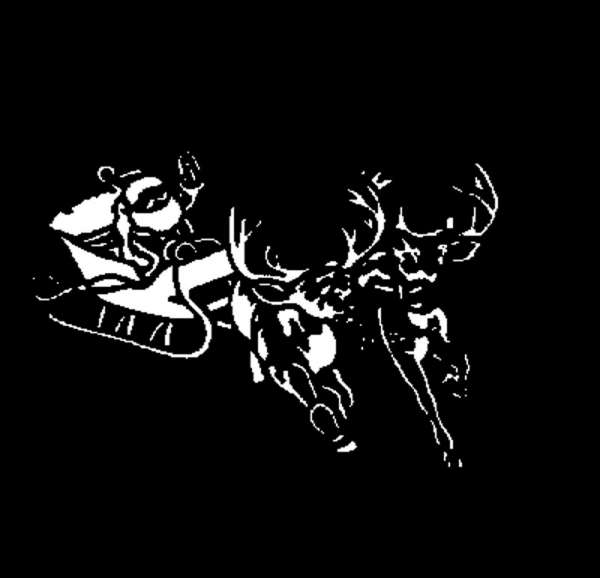 "E-Gobo ""Santa and Sleigh"" Metallgobo"