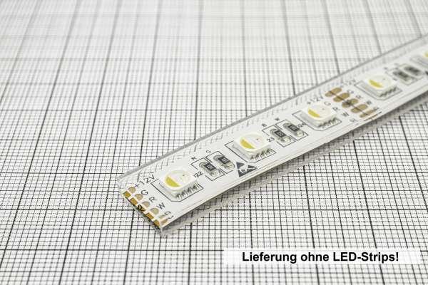 Meterware 12mm Silikon-Schlauch zur Aufnahme von 12 mm breiten LED-Strips / IP67 Zubehör wasserfest