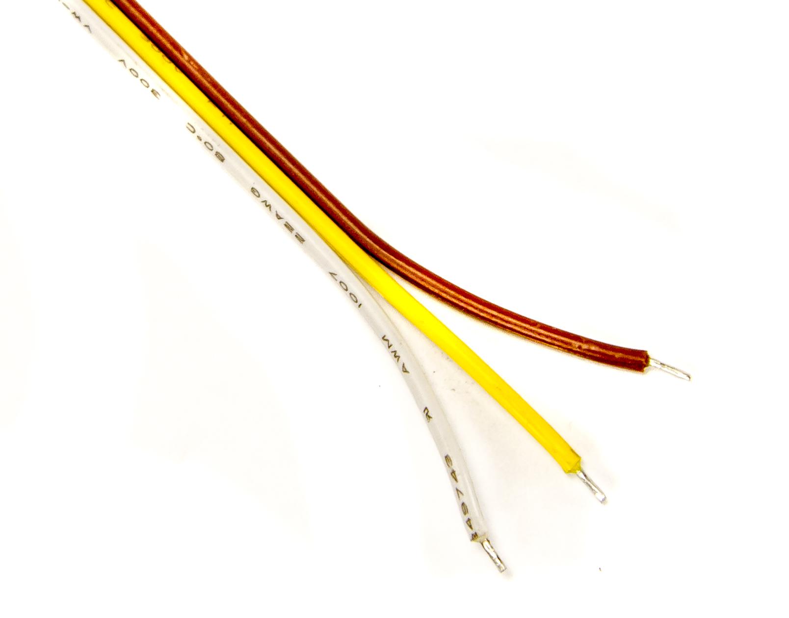 Meterware Verlängerung 3adrig für CCT LED-Strips 3-adrig CCT-LED ...