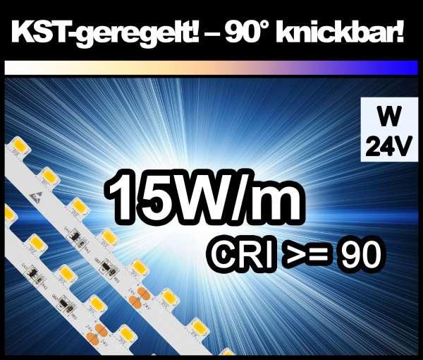 1m Superhell KST-90° kaltweiß mit 1600 lm/m bei 15W/m 24V LED Strips SMD 5630 Strip HP Konstantstrom