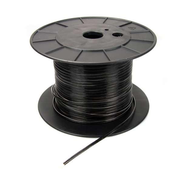 Zwillingslitze, flexibles Litzenkabel, 2x0,75qmm, schwarz