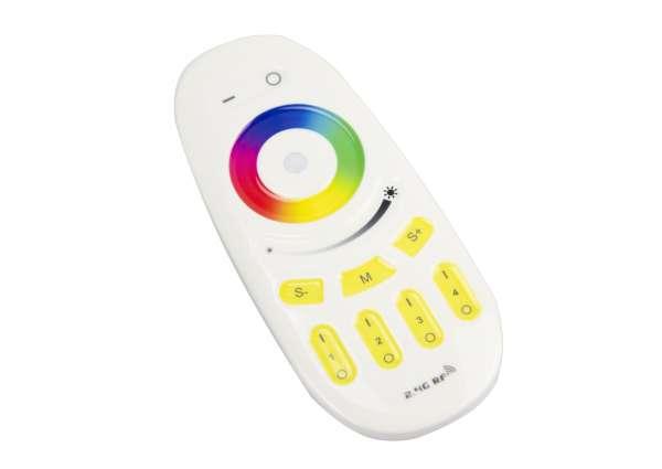 RGB+WW 4-Zonen / 4-Kanal Funk-Fernbedienung für Empfänger 12V und 24V RGBW LED-Strips Controller