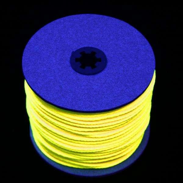 100m UV-Leuchtschnur gelb UV-Schnur