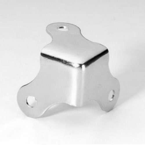 Quadratische Stahlecke, klein, vernickelt