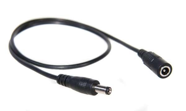 0,5m Verlängerung für einfarbige 1-Kanal LED-Strips, 0,5m DC Kabel mit Hohlstecker-/Hohlbuchse