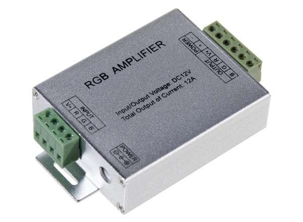 RGB Verstärker für 12V/24V LED-Strips Amplifier 3x4A Repeater Aufholverstärker