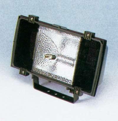 Flutlichtstrahler für Halogen-Metalldampflampe, 150W, für Außeneinsatz (IP65) geeignet