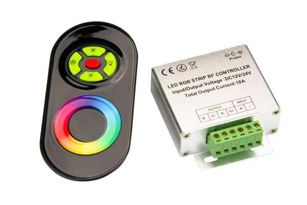 RGB Funk-Fernbedienung und Steuergerät für 12V und 24V RGB LED-Strips 18A
