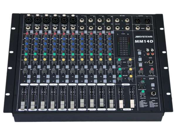 JB Systems MM 14 D, 14-Kanal Mischpult MM14D