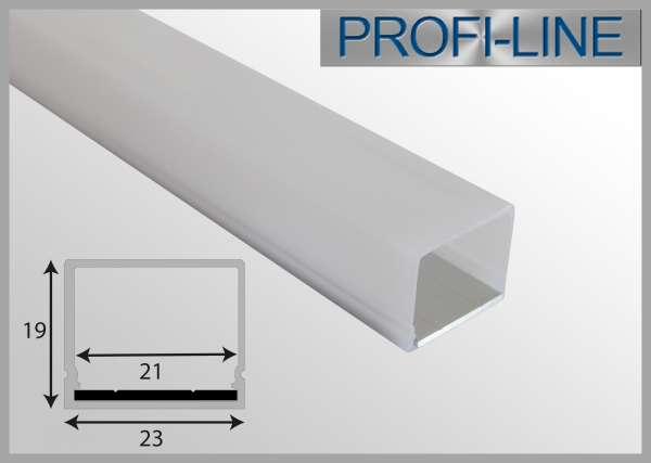 10 cm MUSTER Outdoor LED-Profil 2m QUAD IP65 Rechteckprofil OLP-321 für LED-Strips bis 18mm Breite