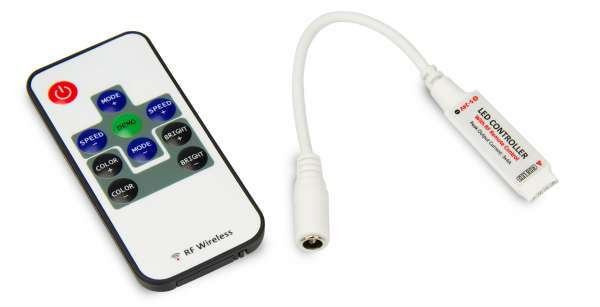 RGB Funk-Mini-Controller für LED-Strips Steuergerät Stripes 12V 24V