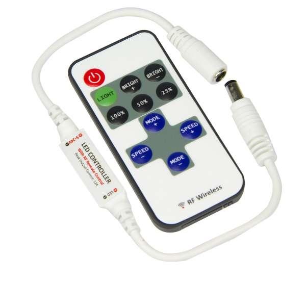 1-Kanal Funk-Mini-Controller Dimmer 12V-5A / 24V-4A für LED-Strips Steuergerät Stripes