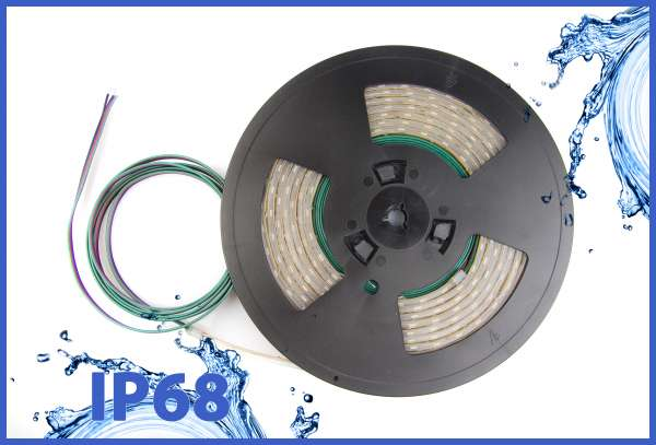 5m 14,4W/m RGB 5050 LED Strip 24V mehrfarbig IP68 wasserdicht Strips Flexband