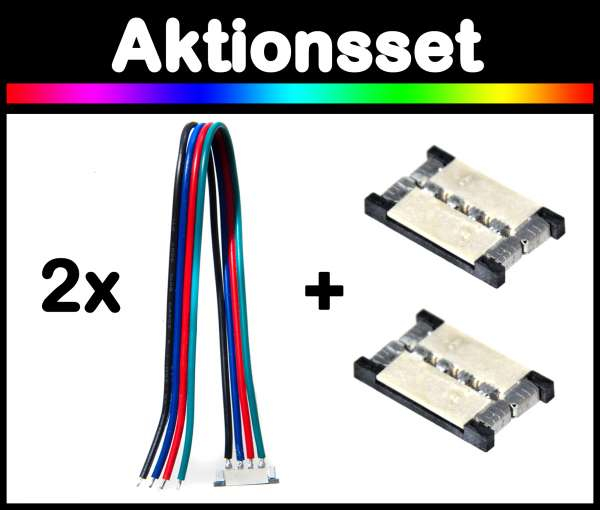 Aktionsset: Adapter und Verlängerungsset für RGB LED-Strips