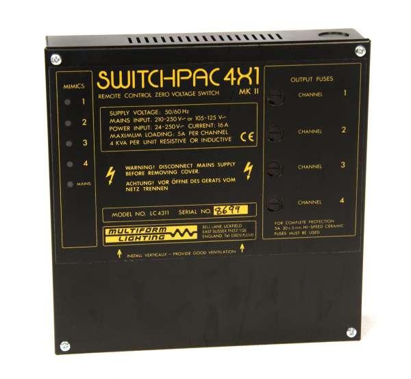 Multiform Switchpac LC4311 4x5A Schalter (1000W pro Kanal) Festeinbau