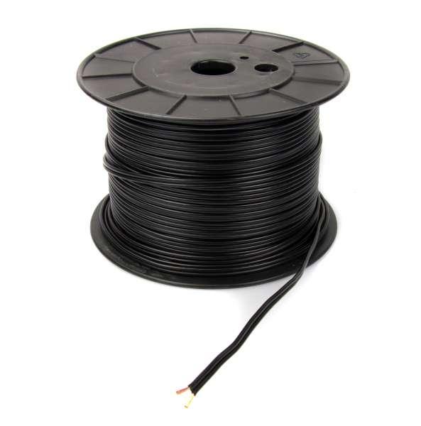 Zwillingslitze 2x 1,5 qmm, LIYZ schwarz, 2-adriges Kabel, flexibles Litzenkabel, Lautsprecherkabel