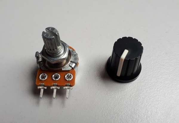 Dreh-Poti, Regler, Potentiometer 100K zum Dimmen von Mean Well HLG Netzteilen der B-Serie, 6mm Achse