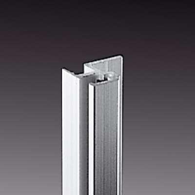 2m Alu Rackschiene mit Gummikeder, stufenlos Aluminium Rack
