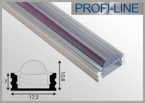 LED Alu-Profil 2m Alu-LED-Linsenprofil Aufbauvariante flach LLP-461 zur Lichtbündelung von LED-Strip