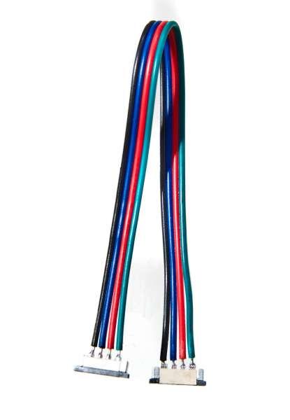 20 cm Verbindungskabel, 4-polig für RGB LED-Strips mit 10mm Breite, lötfreie Schnellverbinder 10 mm