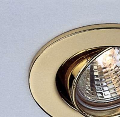 MR 16 Druckguß-Deckeneinbauring, gold