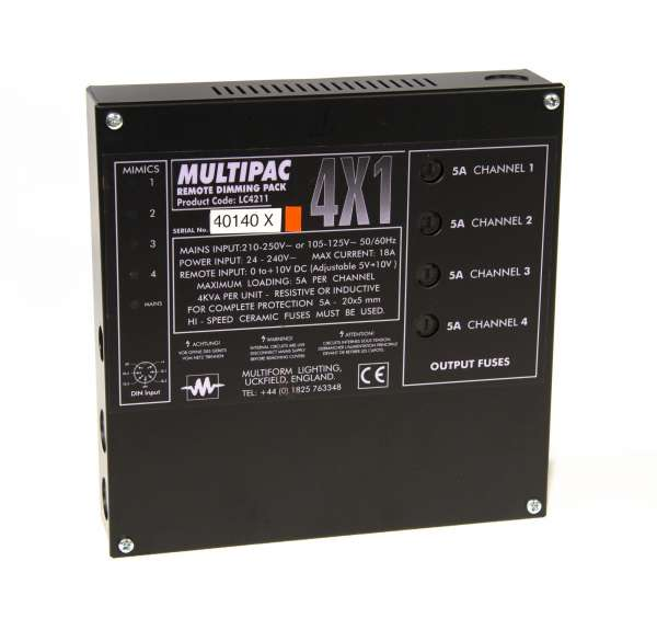 Multiform Multipac LC4211 4x5A Dimmepack Dimmer (1000W pro Kanal) Festeinbau