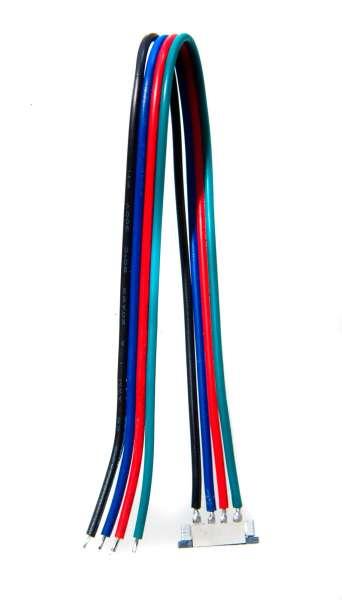 10 mm Schnellverbinder Anschlusskabel für RGB LED-Strips mit 10mm Breite, lötfrei