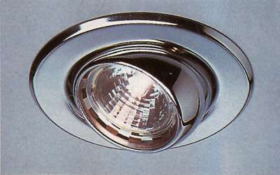 Kugel-Downlight, MR 16, metal-brushed