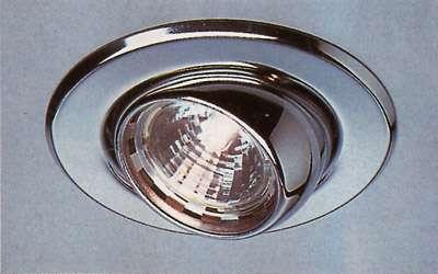Kugel-Downlight, MR 16, metal-brushed