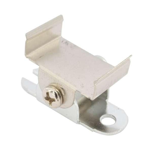 Flex-Halterung Montageclip / schwenkbare Befestigungsklammer für LED Alu-Profil mit Art.-Nr. 107401