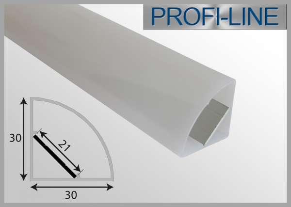 Outdoor LED-Profil 2m 90° WINKEL IP65 Eckprofil OLP-311 für LED-Strips bis 18mm Breite