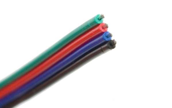 Meterware Verlängerung 4adrig für RGB LED-Strips 4-adrig RGB-LED-Kabel Litze Litzenkabel