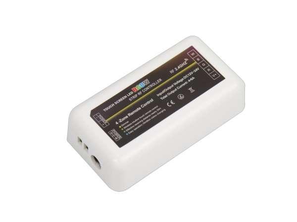 RGB+WW 4-Zonen / 4-Kanal Funk-Empfänger und Steuergerät für 12V und 24V RGBW LED-Strips