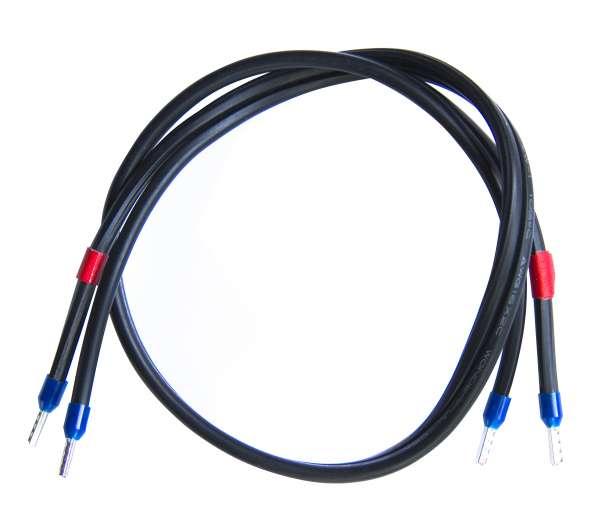 Verbindungskabel 0,5m Litze 2x 1,5qmm mit Aderendhülsen