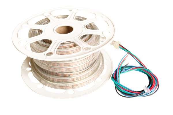 1m TPU Outdoor Unterwasser LED Strip SMD 5050 RGB, Meterware! DC24V, 6,5W/m, 48 LED/m, IP68, einseitige Einspeisung 2m Kabel