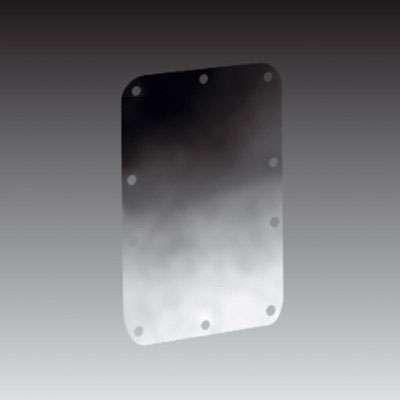 Nietplatte für Klappgriff, Verstärkungsplatte Stahl