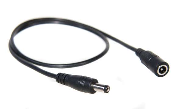 2m Verlängerung für einfarbige 1-Kanal LED-Strips, 2m DC Kabel mit Hohlstecker-/Hohlbuchse